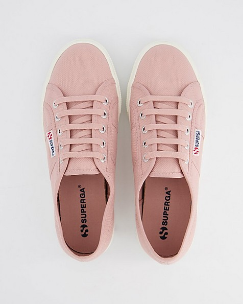 Superga Ladies Classic Mid Platform Sneaker -  pink