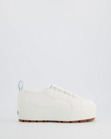 Superga Ladies Platform Tank Sneaker -  white