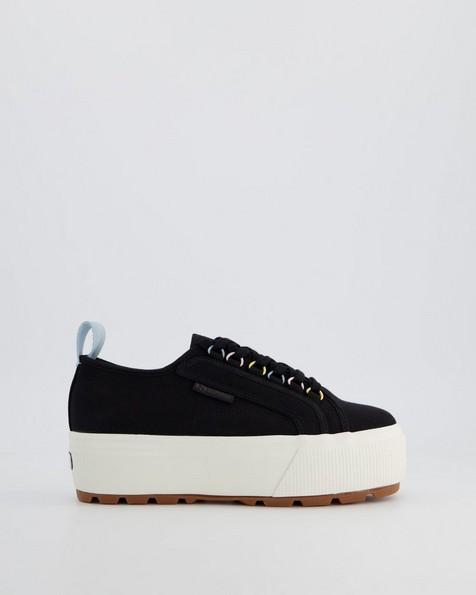 Superga Ladies Platform Tank Sneaker -  black