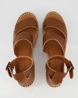 Ladies Dani Platform Sandal  -  tan