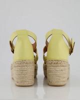 Ladies Dani Platform Sandal  -  yellow