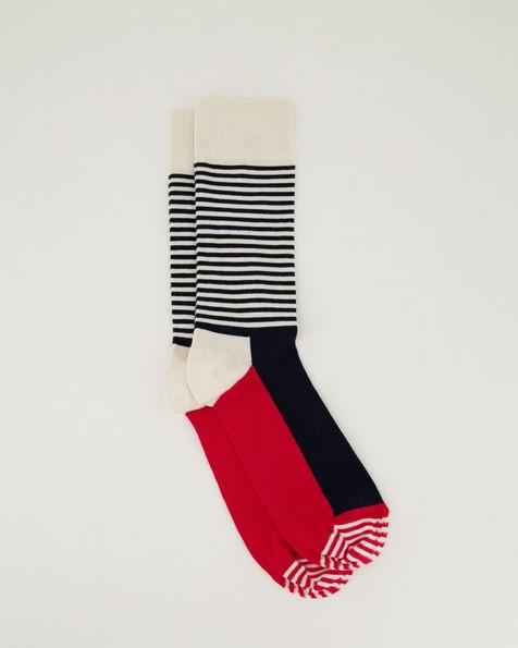Happy Socks' Men's Half Stripe Socks -  blue