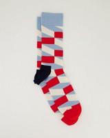 Happy Socks' Men's Jumbo Filled Optic Socks -  red