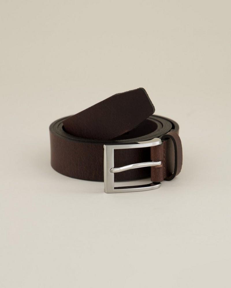 Arthur Jack Men's Edison Leather Belt -  brown-brown