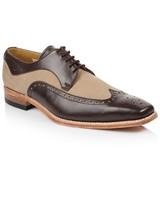 Crockett & Jones Men's Zachery Shoe -  chocolate-stone