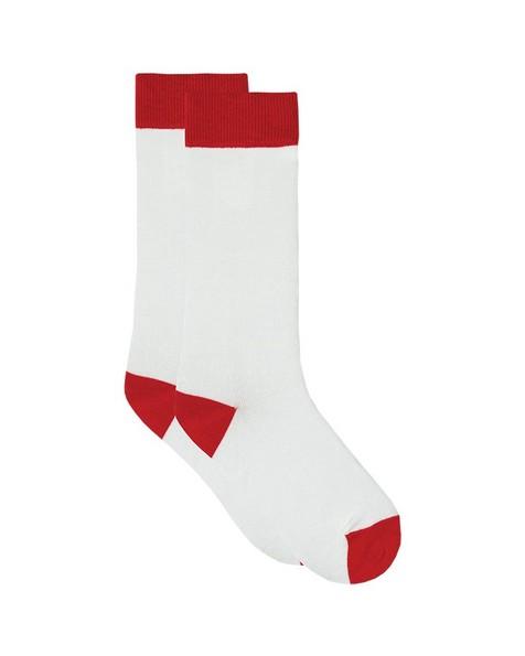 Tread & Miller Plain Men's Sock -  cream-red