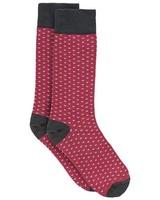 Tread & Miller Arrow Sock -  charcoal-burgundy