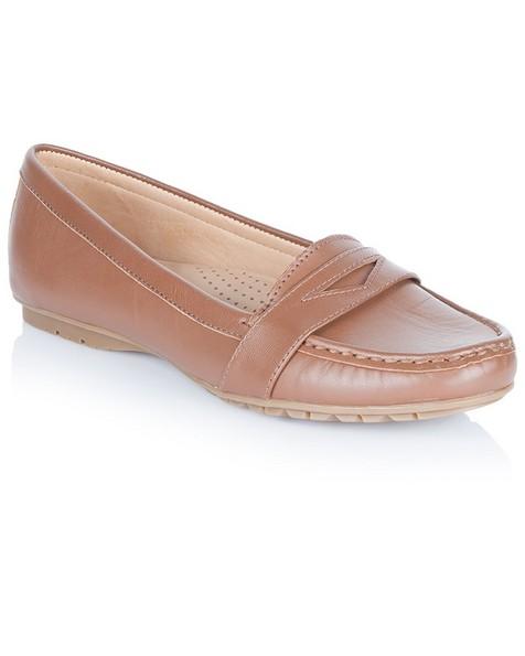 Sebago Meriden Ladies Penny Shoe -  brown