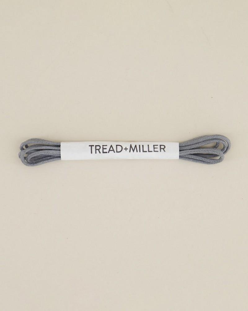 Tread & Miller Wax Cotton Shoelaces -  grey