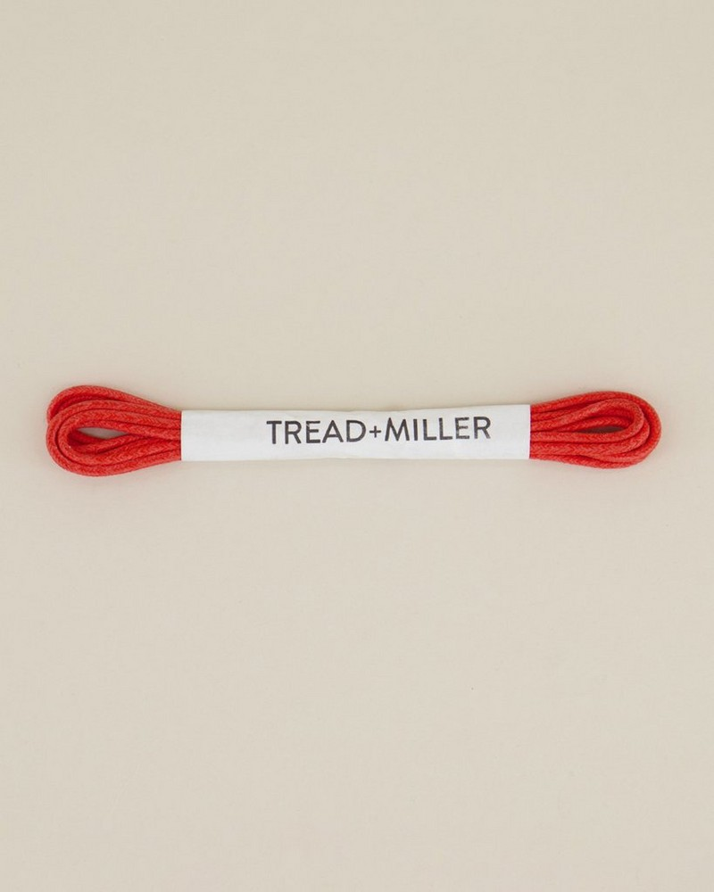Tread & Miller Wax Cotton Shoelaces -  red