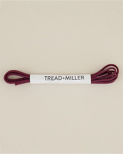 Tread & Miller Wax Cotton Shoelaces -  burgundy
