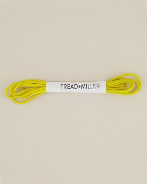 Tread & Miller Wax Cotton Shoelaces -  yellow