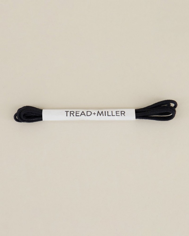 Tread & Miller Wax Cotton Shoelaces  -  black