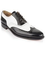 Crockett & Jones Men's Pablo Shoe  -  black-white