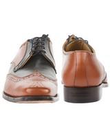 Crockett & Jones Men's Hampton Shoe  -  tan-navy