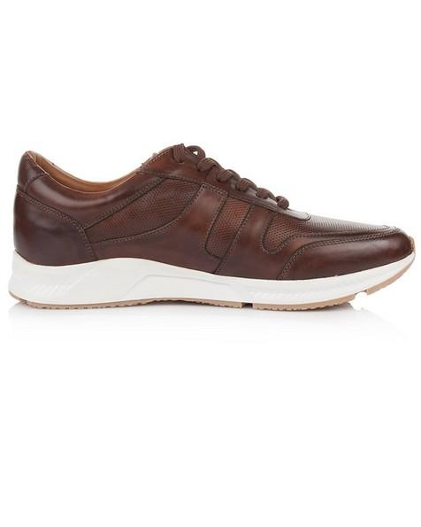 Arthur Jack Men's Ethan Sneaker -  brown-white