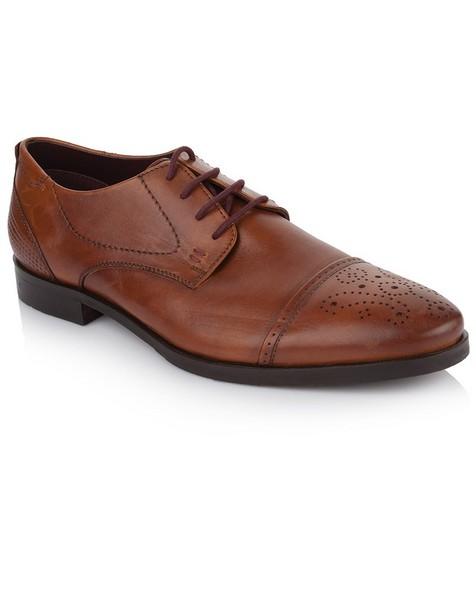 Arthur Jack Men's Aidan Shoe -  tan-burgundy