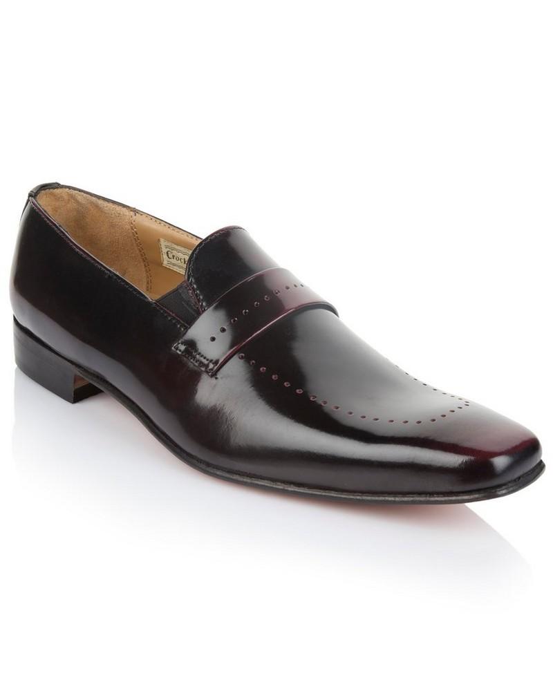 Crockett & Jones Men's Vincent Shoe  -  burgundy