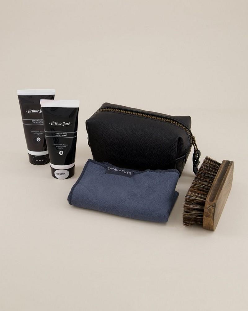 Arthur Jack Travel Shoe Care Kit -  black-black