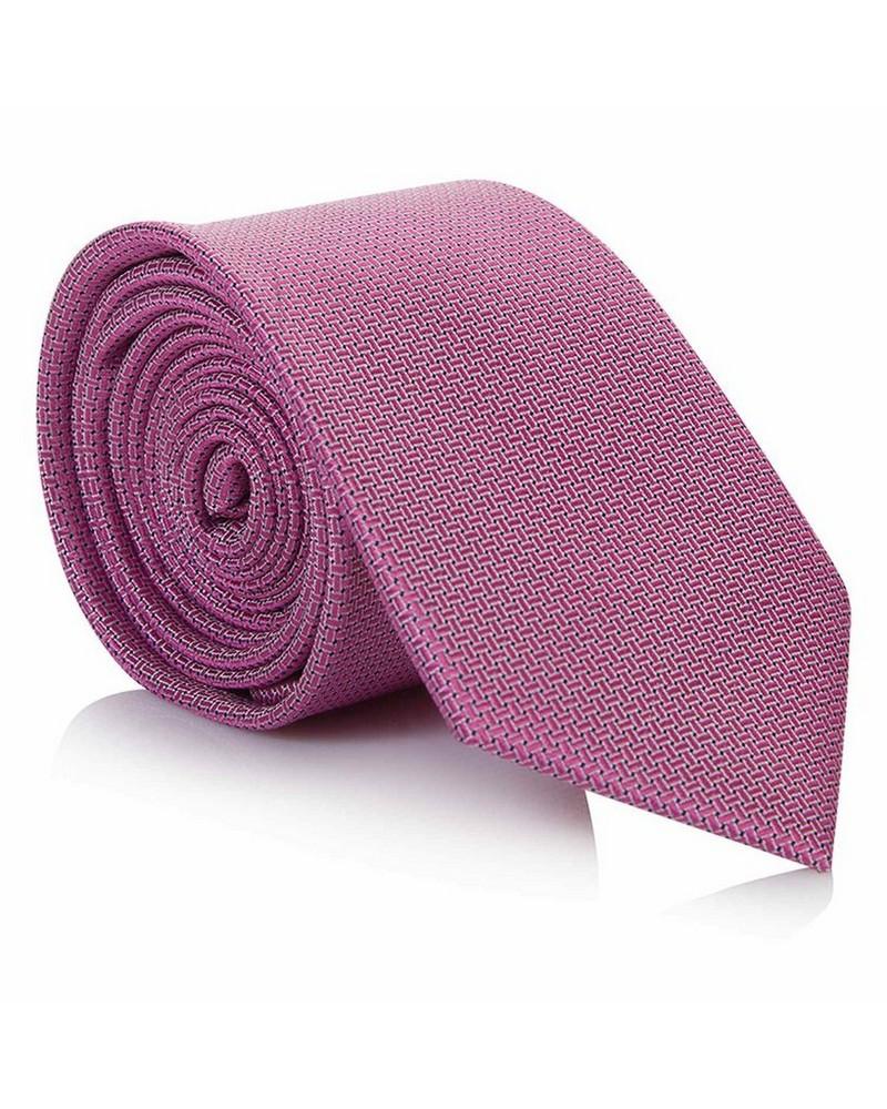 Tread & Miller Charlston Pink Men's Silk Tie -  pink-pink