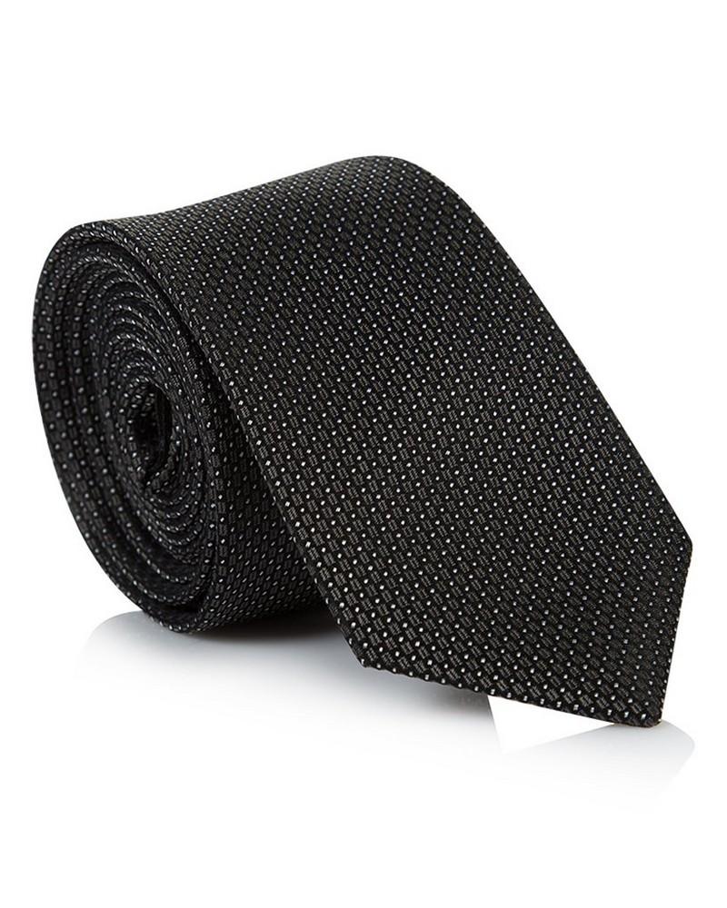 Edgar Silk Tie -  charcoal-charcoal