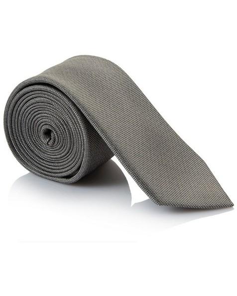 Tread & Miller Esmond Silk Tie -  silvergrey-silvergrey
