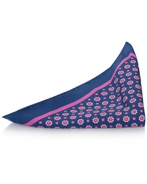 Tread & Miller Denston 3 Hanky -  navy-pink