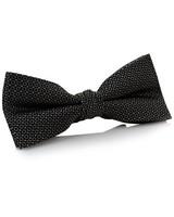 Tread & Miller Carlisle Silk Bow Tie -  charcoal-black