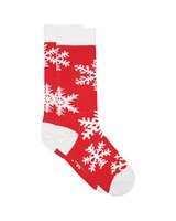 Snowflake Socks -  red-white