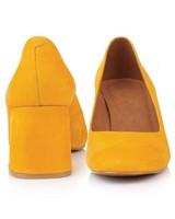 GIANNA Ladies Block Heel -  yellow