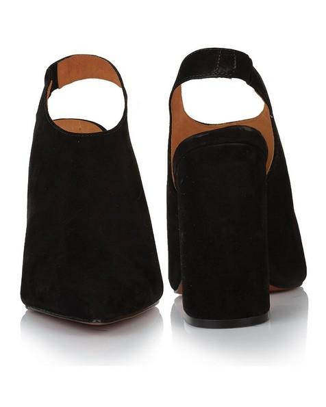 GIANNA Ladies Pointy Block Heel -  black