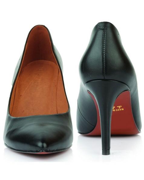 GIANNA Ladies Core Court Heel -  black