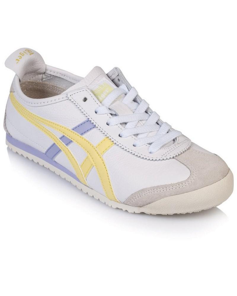 Onitsuka Ladies Tiger Mexico 66 Shoe -  white-yellow