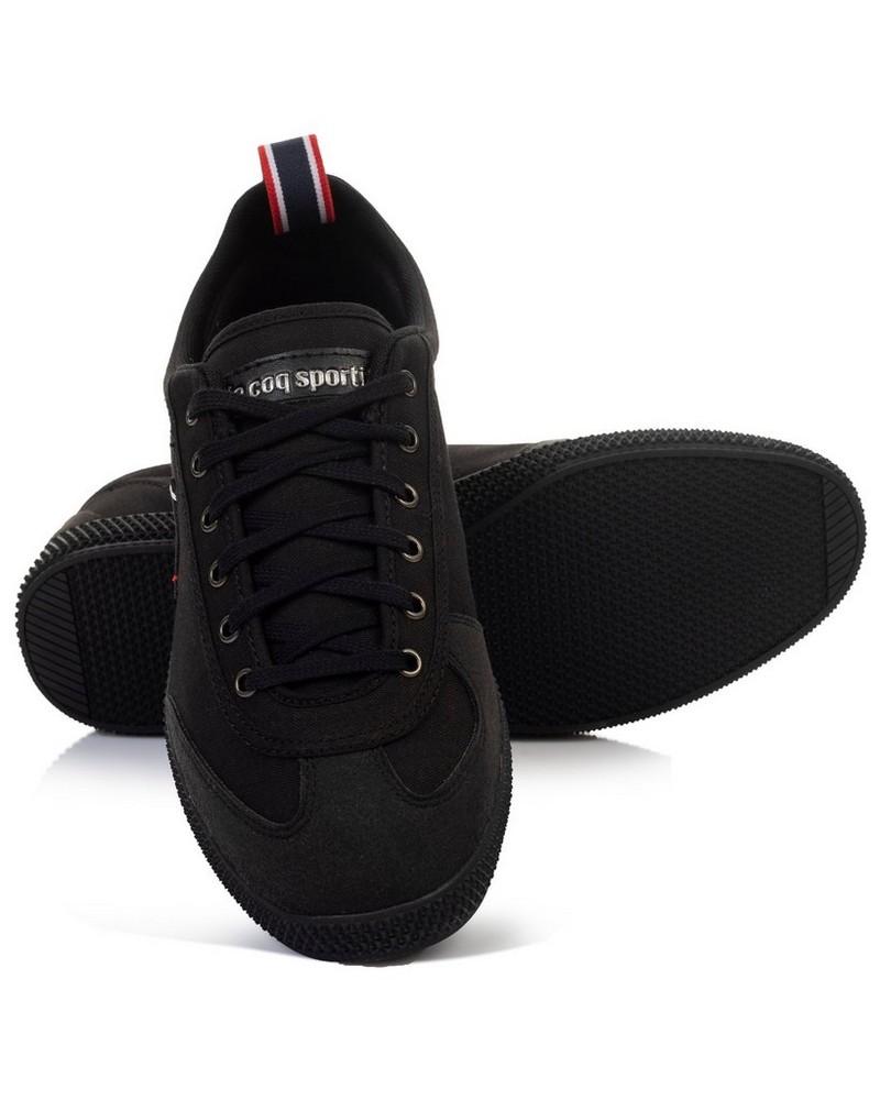 le coq Provencale II Canvas Shoe (Mens) -  black-silver