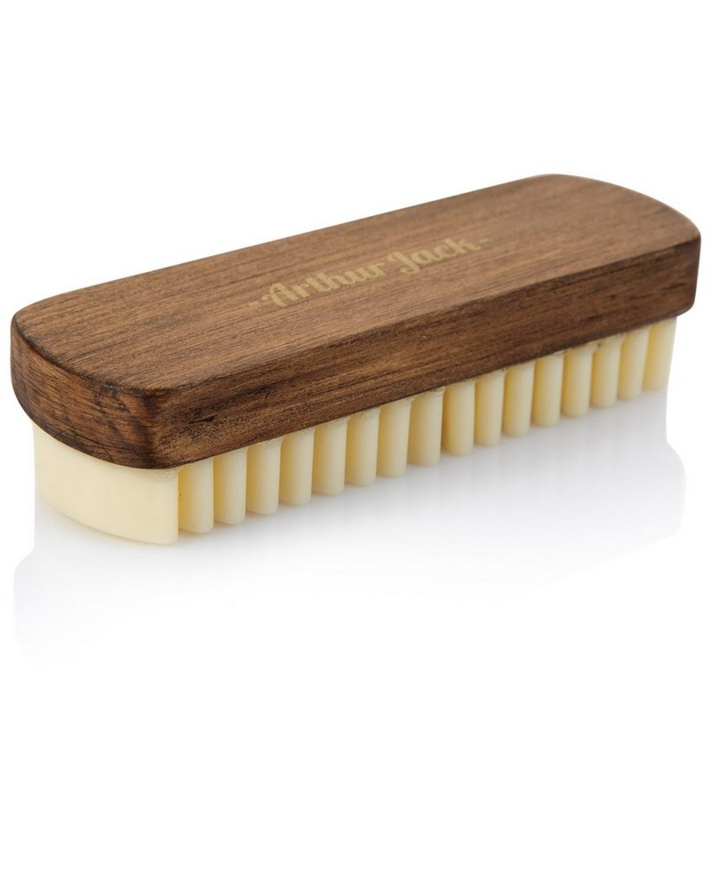 Arthur Jack Rubber Suede Brush -  brown