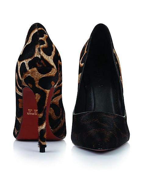 GIANNA High Court Leopard Ladies Heel  -  brown-black