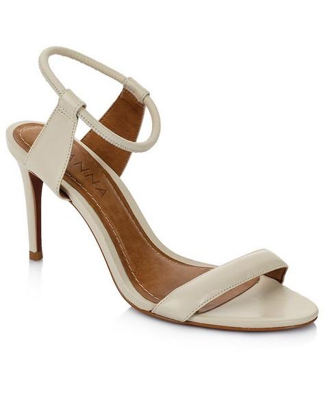GIANNA Ladies Strappy Stretch Heel  -  cream
