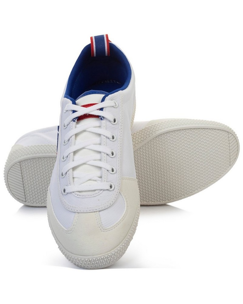 le coq Provencale Mens II Nylon Sneaker -  white-cobalt