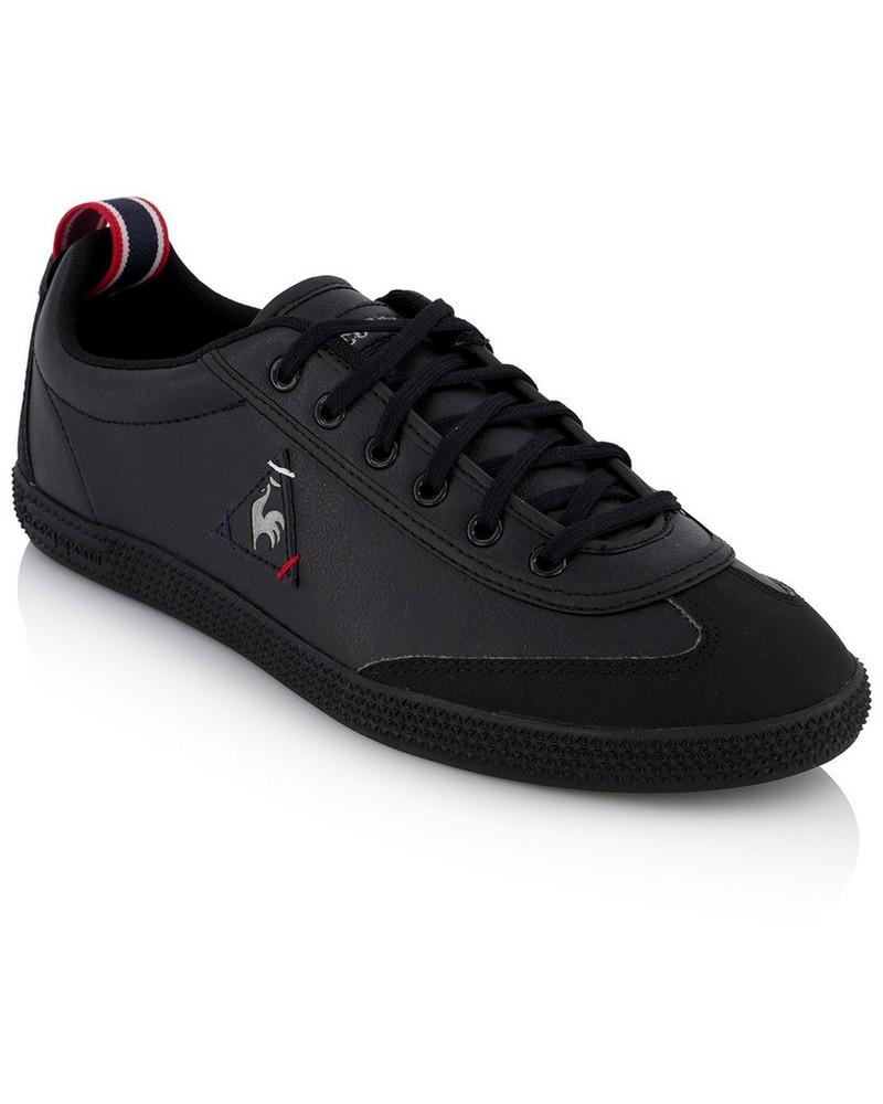 Le Coq Men's Provencale Low PU Craft Sneaker -  black-black