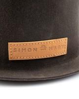 Simon & Mary Small Bowler -  chocolate