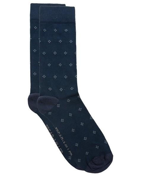 Tread & Miller Diamond Sock -  navy-charcoal