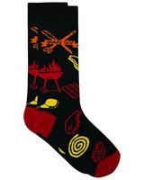Nou Braai Sock -  black-red