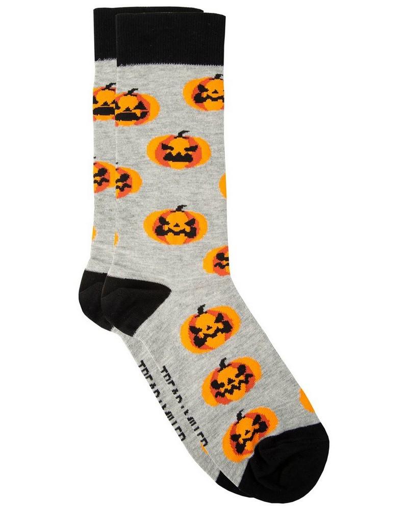 Tread & Miller Jack O' Lantern Sock -  grey-orange