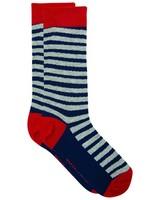 Tread & Miller Streaky Sock -  navy-red