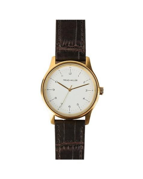 Tread & Miller Marcus Watch -  gold-brown