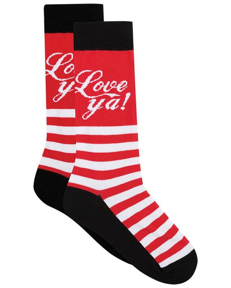 Tread & Miller Love Ya! Sock -  red-black