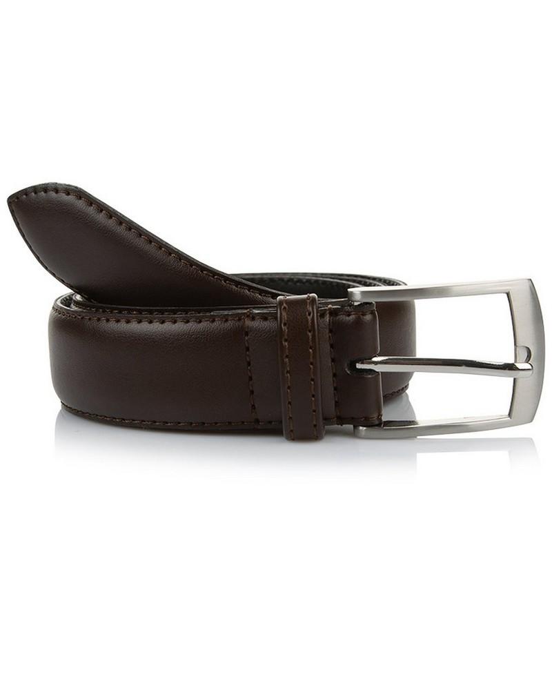 Arthur Jack Harper Leather Belt -  brown-brown