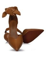 GIANNA Ladies Lace-Up Stiletto Heel -  camel