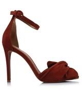 GIANNA Ladies Wrap Vamp Stiletto Heel -  rust