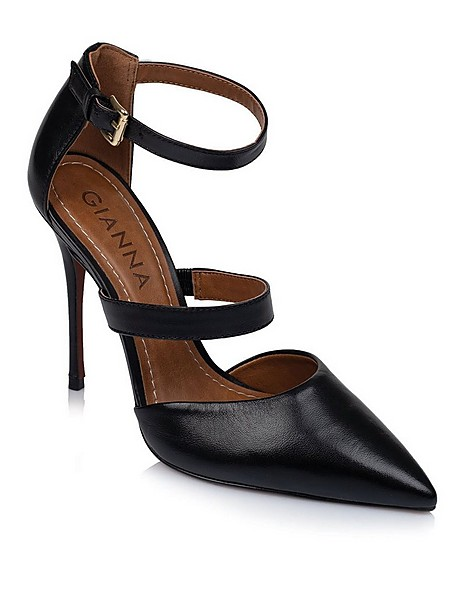 GIANNA Ladies High Strappy Heel -  black